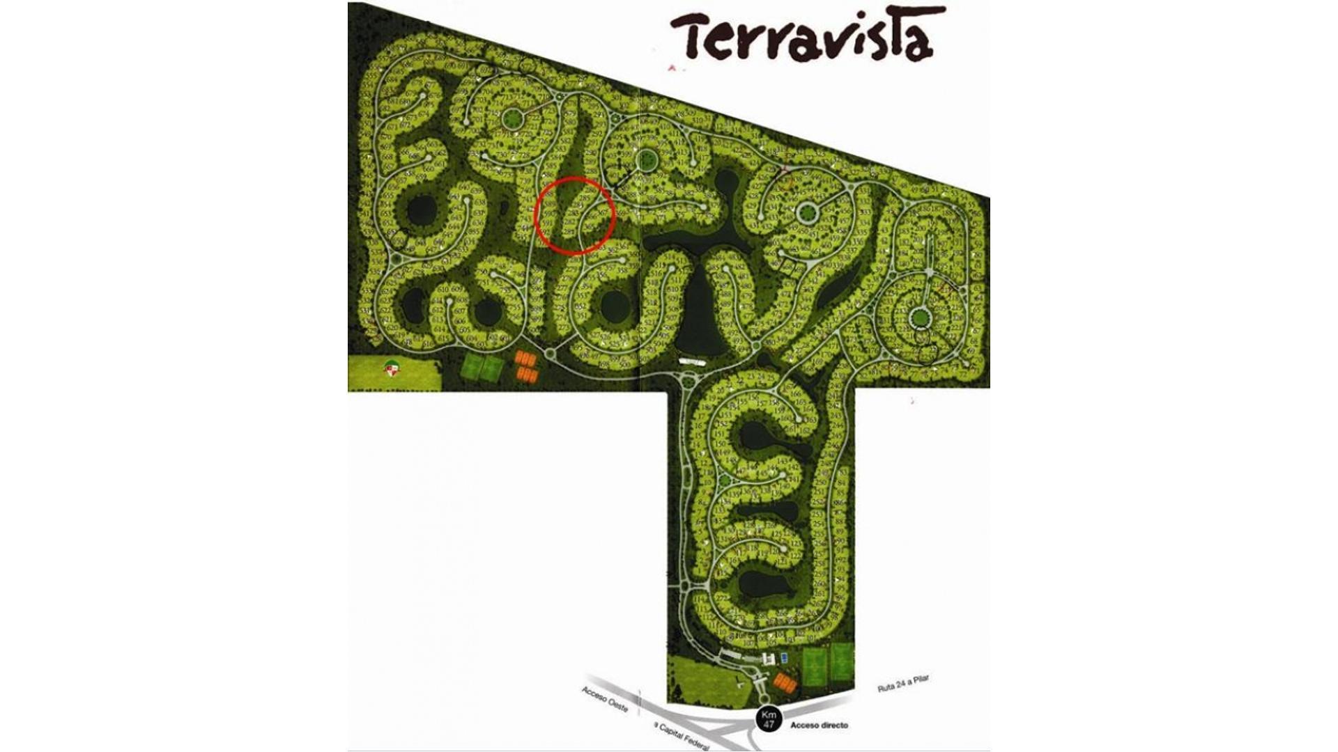 TERRENO LOTE EN VENTA 1007 m2 EN COUNTRY TERRAVISTA